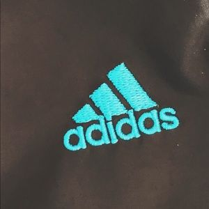 Adidas jogging long pants black and turquoise blue